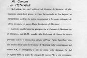 Scritto collettivo di osservazioni e richieste al comune di Mentana - 25 settembre 1970